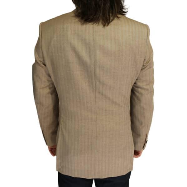 Boss soft beige herringbone jacket back