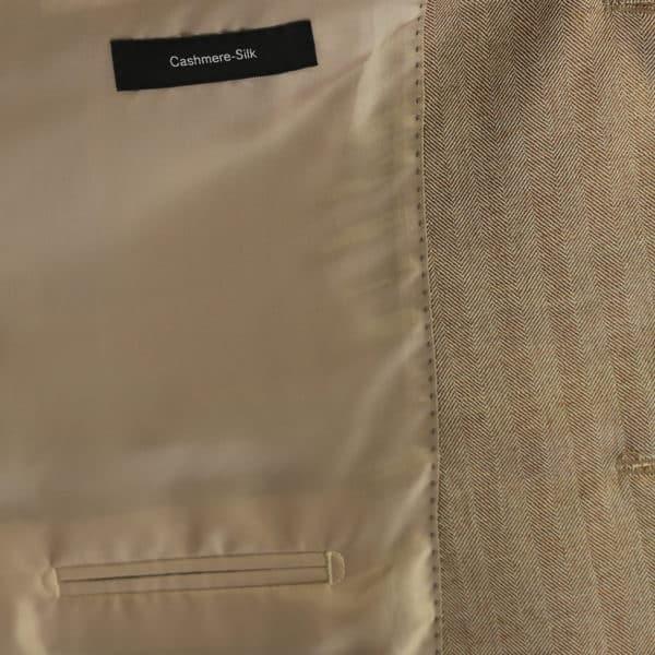 Boss soft beige herringbone jacket lining