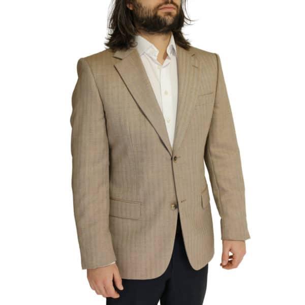 Boss soft beige herringbone jacket side