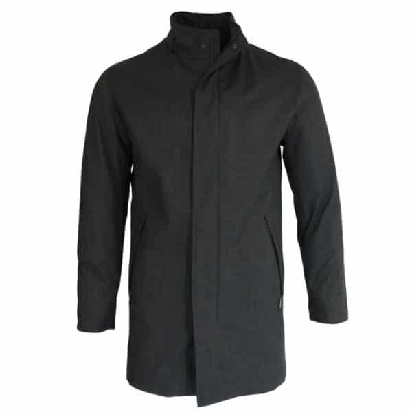Bugatti rain coat charcoal front