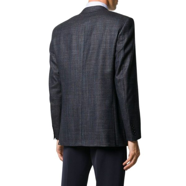 CANALI MICRO WEAVE JACKET IN NAVY2