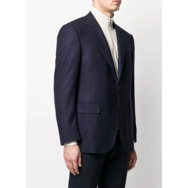 CANALI NAVY KEI JACKET SIDE VIEW
