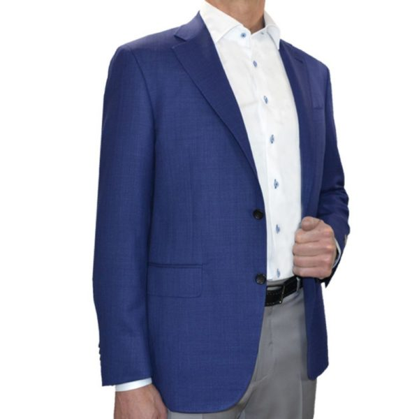 CANALI PURE WOOL SILK JACKET IN BLUE
