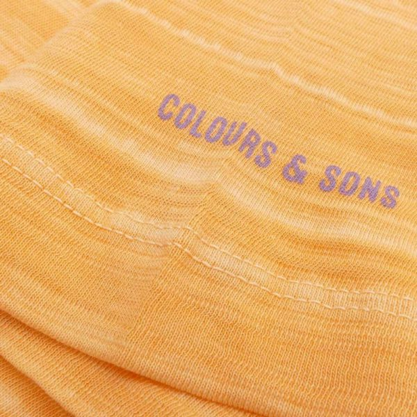 COLOURS SONS BASIC T SHIRT V NECK ORANGE1
