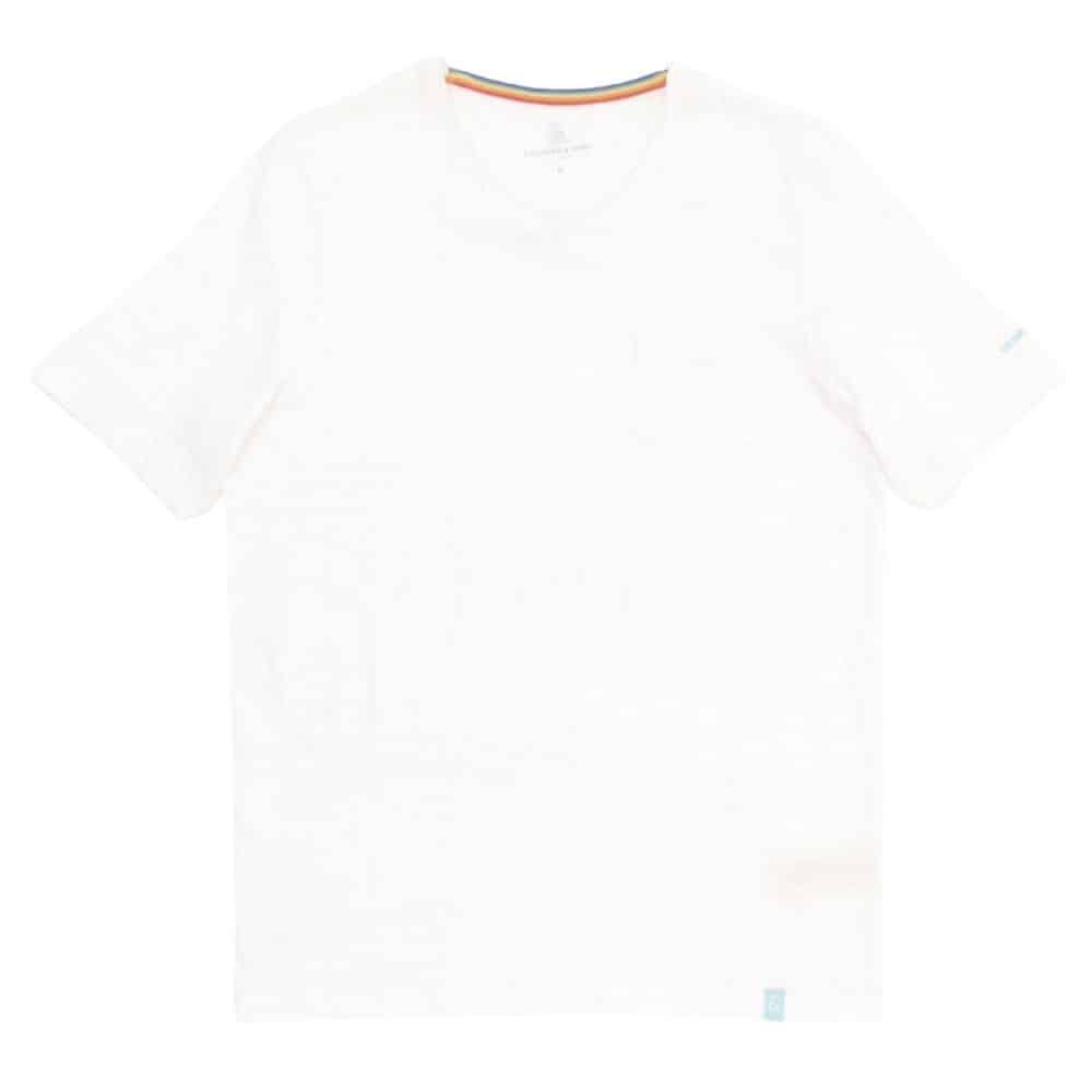COLOURS SONS BASIC T SHIRT V NECK WHITE