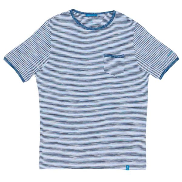 COLOURS SONS T SHIRT SPACE DYED BLUE