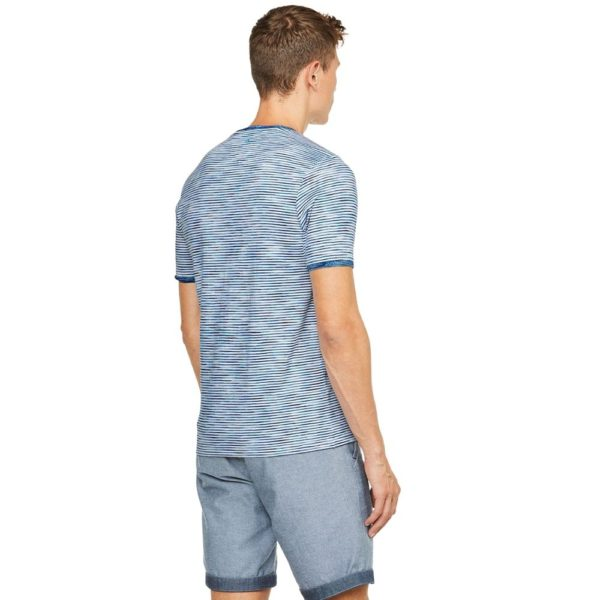 COLOURS SONS T SHIRT SPACE DYED BLUE1