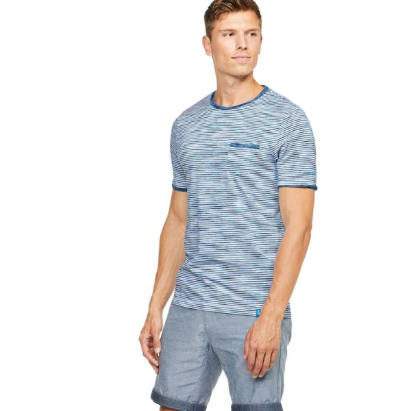 COLOURS SONS T SHIRT SPACE DYED BLUE2