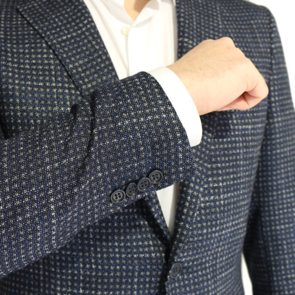 Canali Armani jacket navy with silver dots buttons