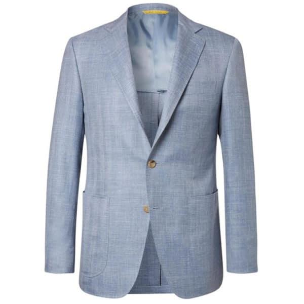 Canali Kei jacket light blue