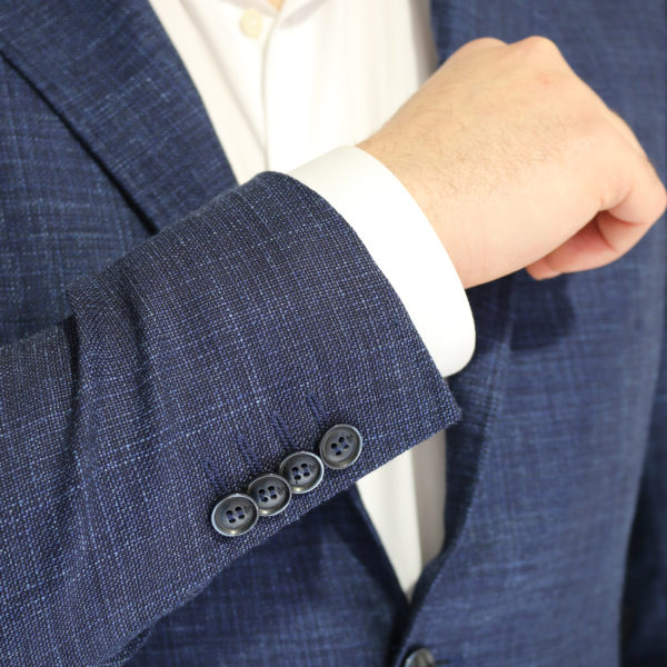 Canali fine textured blue jacket buttons