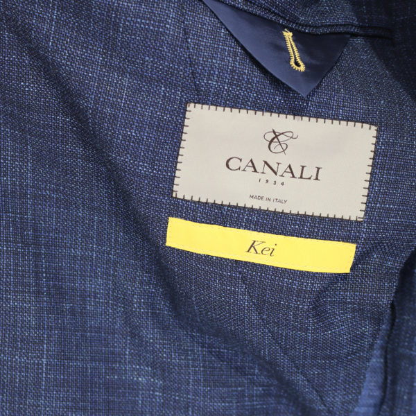 Canali fine textured blue jacket lining