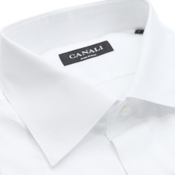 Canali formal shirt diagonal stitching collar