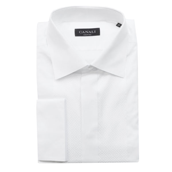 Canali formal shirt diagonal stitching1