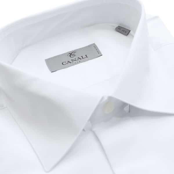 Canali formal shirt wave stitching collar