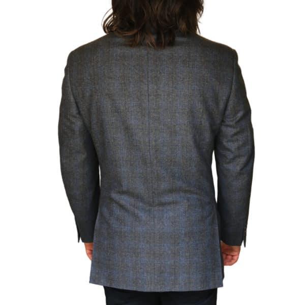 Canali jacket grey windowpane back