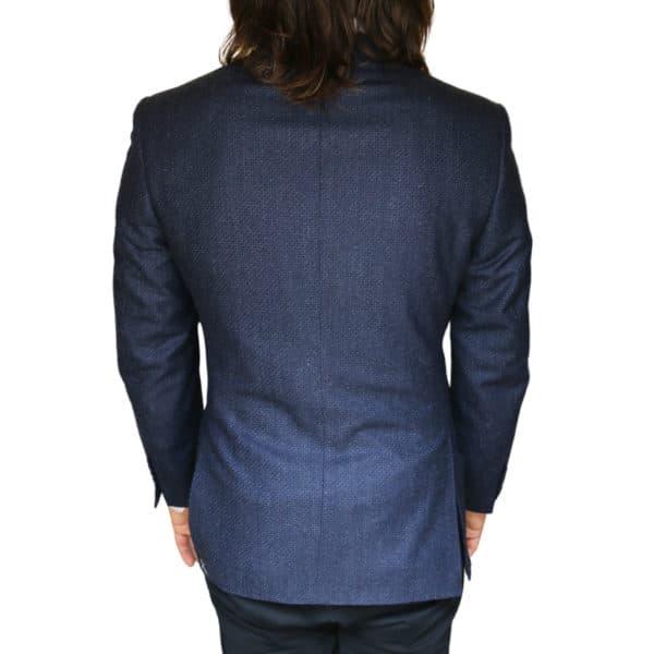 Canali jacket navy back