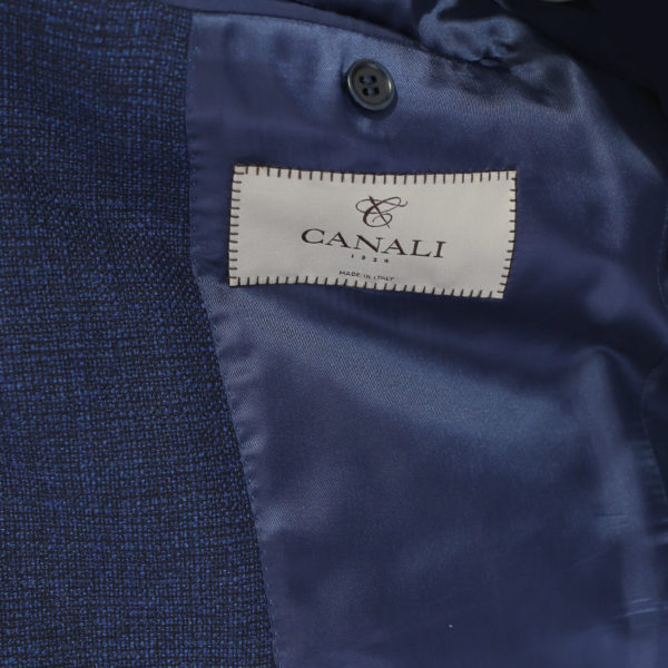 Canali jacket navy fine textured lining