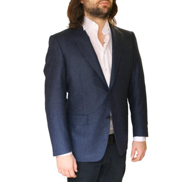 Canali jacket navy side