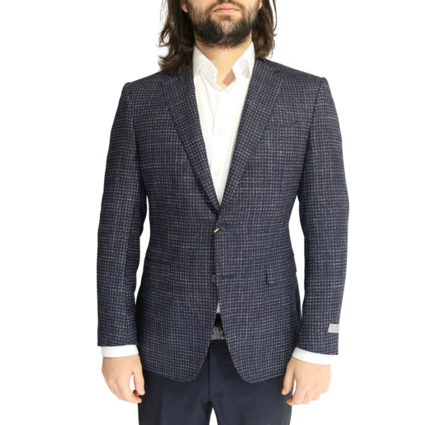 Canali jacket navy with silver dots