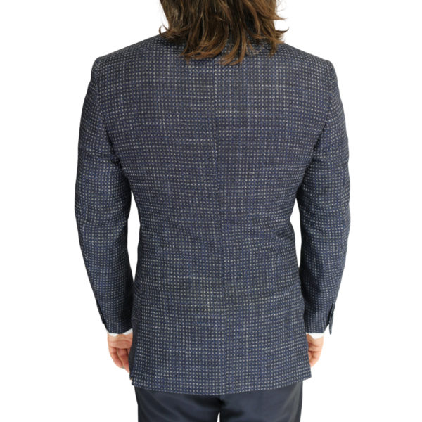 Canali jacket navy with silver dots back