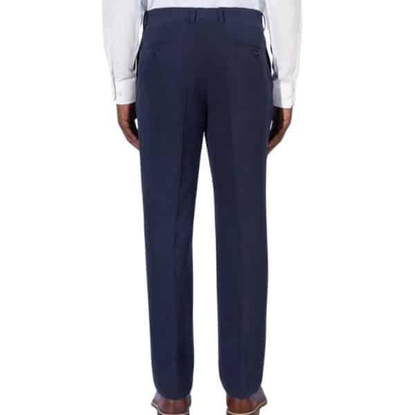 Canali silk linen navy trouser back