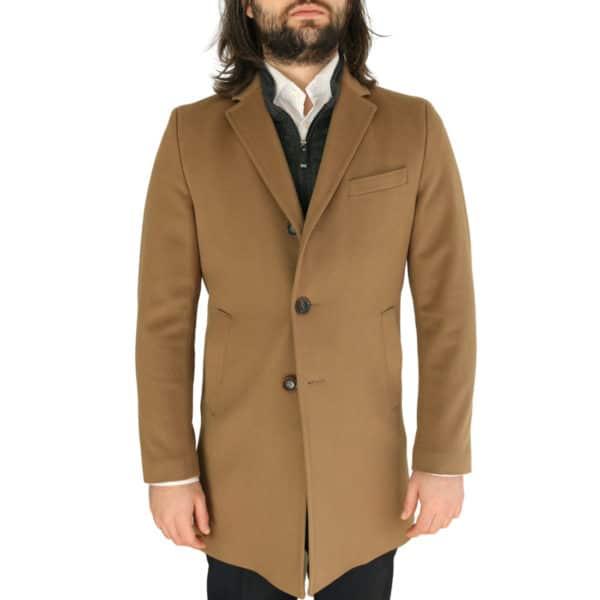 Carl Gross camel overcoat