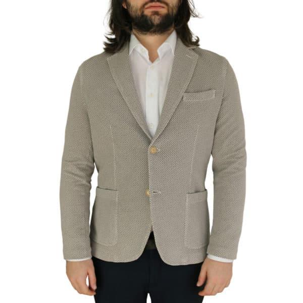 Circolo beige small pattern jersey jacket