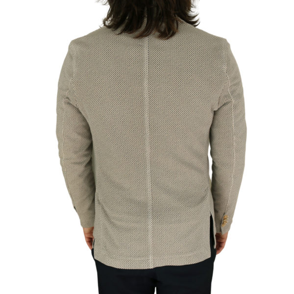 Circolo beige small pattern jersey jacket back
