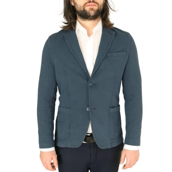 Circolo navy small pattern jersey jacket