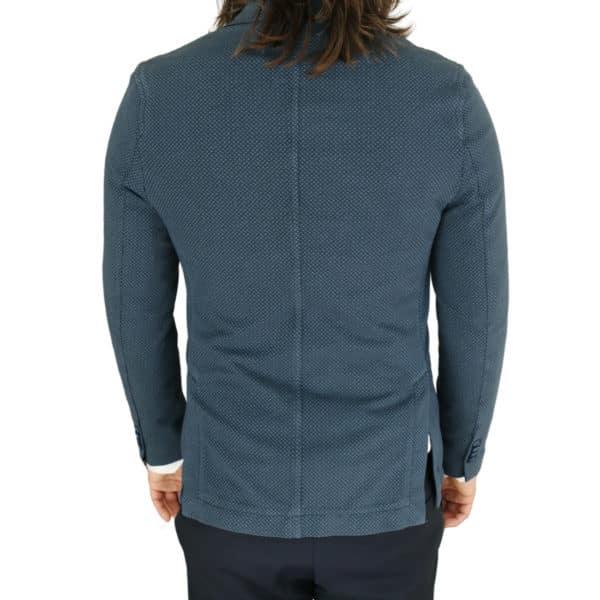 Circolo navy small pattern jersey jacket bacl