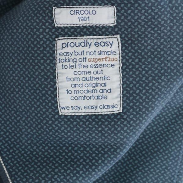 Circolo navy small pattern jersey jacket lining
