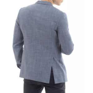 EMPORIO ARMANI straw weave Jacket in Blue rear