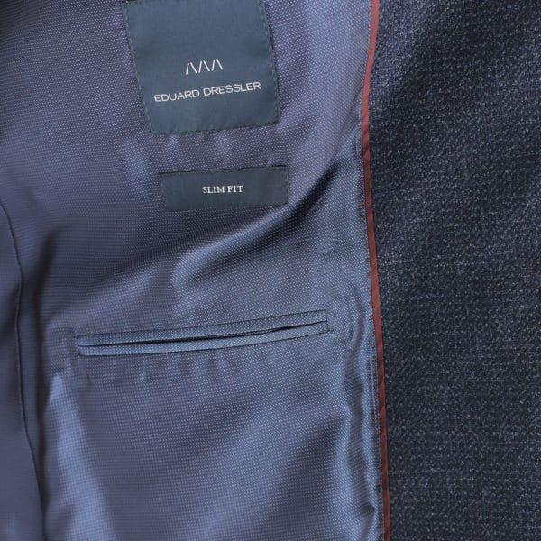 Eduard Dressler navy jacket lining detail