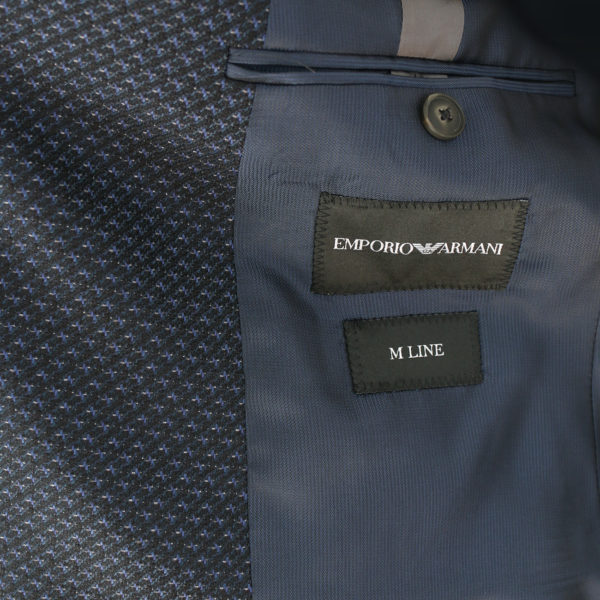 Emporio Armani Giacca with diagonal navy stitching lining