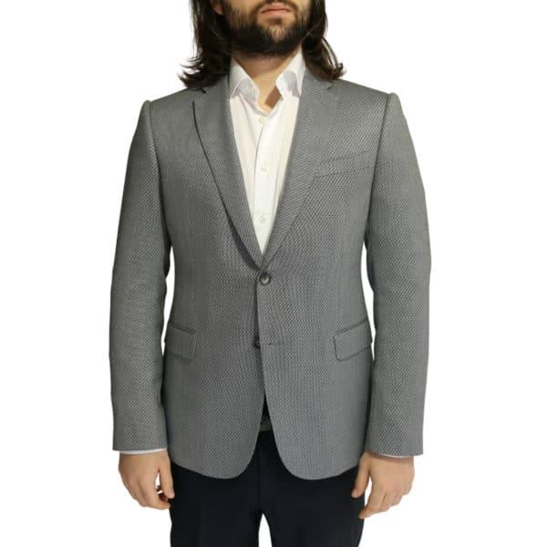 Emporio Armani grey textured blazer