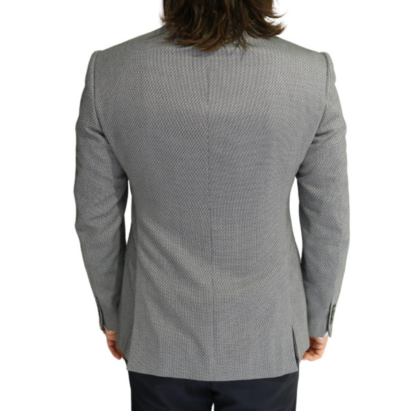 Emporio Armani grey textured blazer jacket