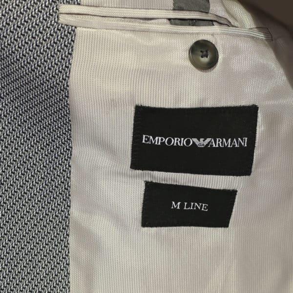 Emporio Armani grey textured blazer jacket lining