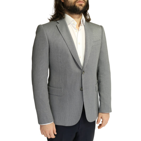 Emporio Armani grey textured blazer jacket side