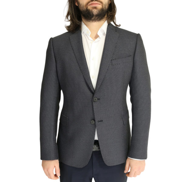 Emporio Armani jacket grey with black zig zag pattern