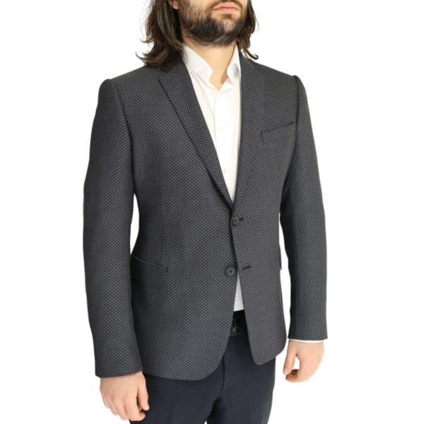 Emporio Armani jacket grey with black zig zag side pattern