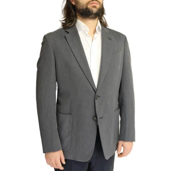 Emporio Armani linen blend jacket charcoal