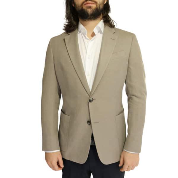 Emporio Armani linen blend jacket stone