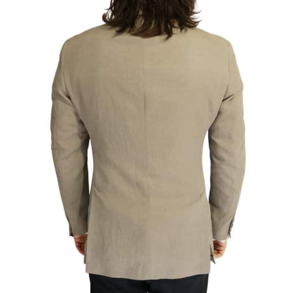 Emporio Armani linen blend jacket stone back
