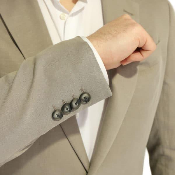 Emporio Armani linen blend jacket stone buttons