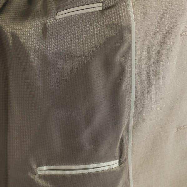 Emporio Armani linen blend jacket stone lining
