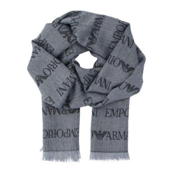 Emporio Armani logo scarf 1
