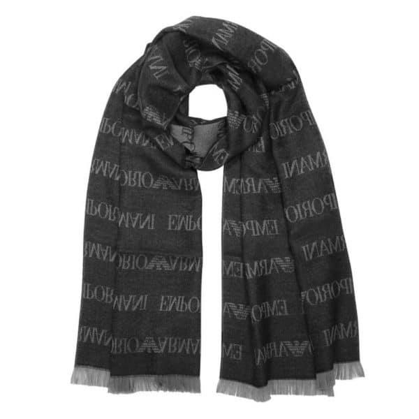 Emporio Armani logo scarf 2