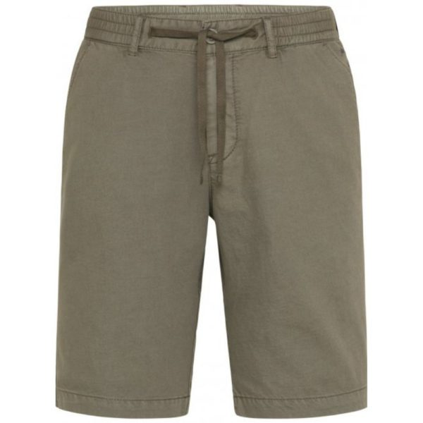 FYNCH HATTON Casual Fit Cargo Shorts in olive front 2