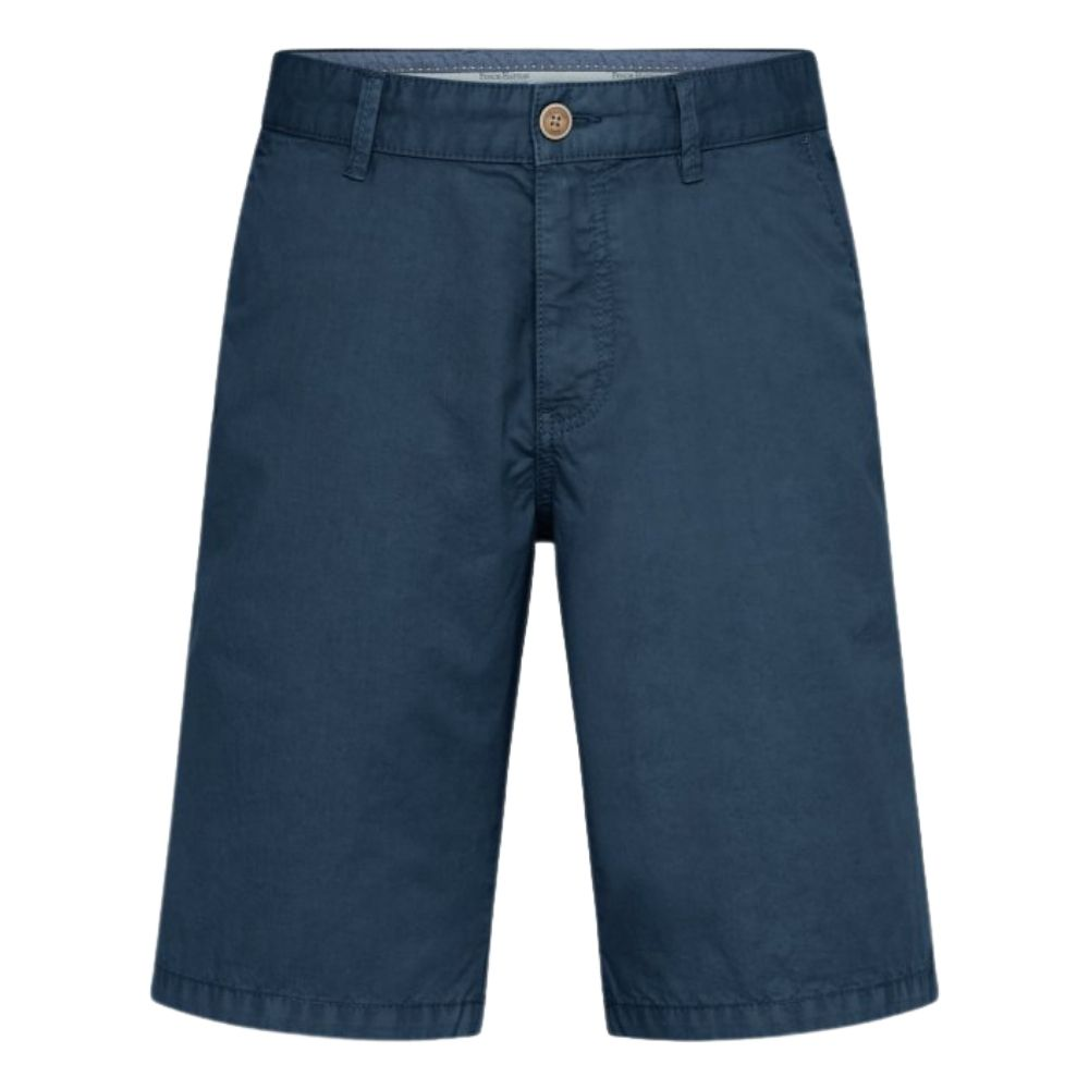 FYNCH HATTON Casual Fit Pure Cotton Shorts Petrol Blue front